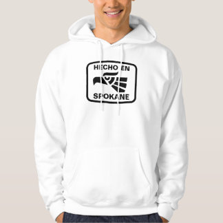 Hecho en Spokane personalizado custom personalized Hoodie