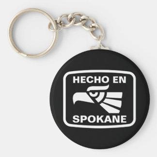 Hecho en Spokane personalizado custom personalized Keychain