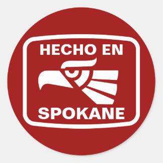 Hecho en Spokane personalizado custom personalized Sticker