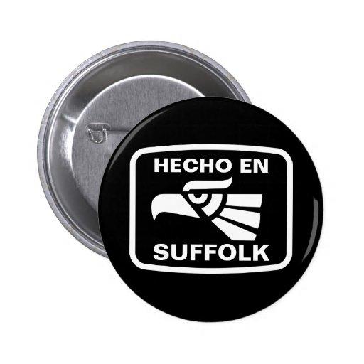 Hecho en Suffolk personalizado custom personalized 2 Inch Round Button