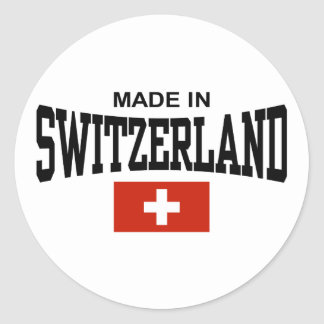 Hecho en Suiza Pegatina Redonda