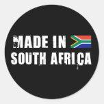 Hecho en Suráfrica Pegatinas Redondas