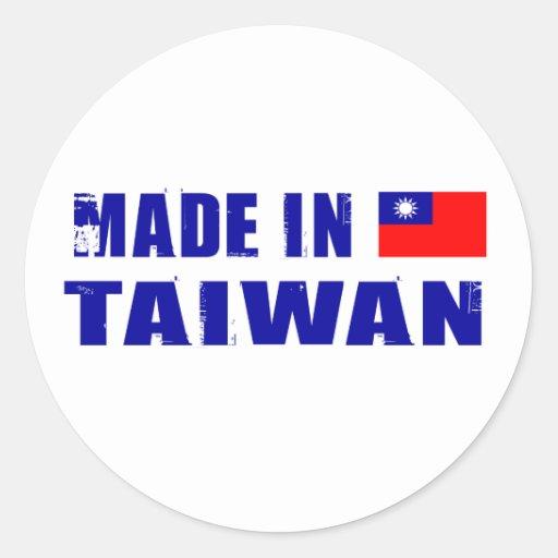 Hecho en Taiwán Pegatina Redonda