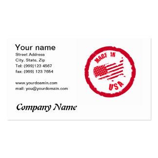 Hecho en tarjeta de visita del diseño del sello de