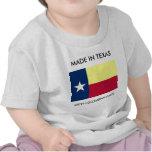 Hecho en Tejas con la camisa colombiana del niño d