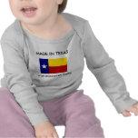 Hecho en Tejas con las piezas rumanas Camiseta