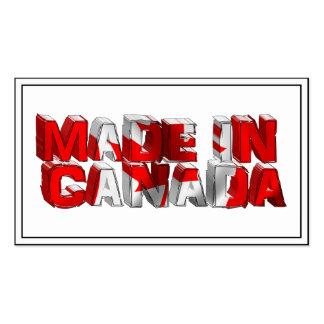 Hecho en texto de la bandera de Canadá Tarjetas De Visita