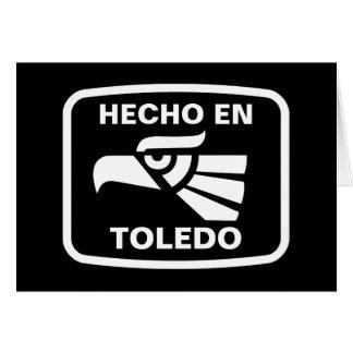 Hecho en Toledo personalizado custom personalized Greeting Card
