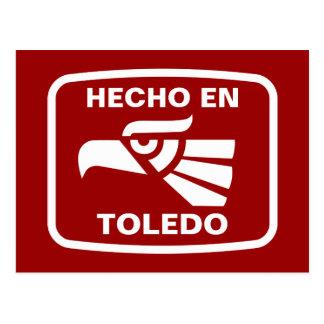 Hecho en Toledo personalizado custom personalized Post Card