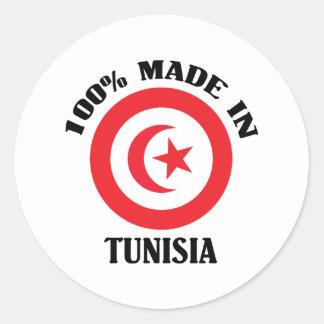 Hecho en Túnez Etiquetas Redondas