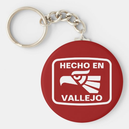 Hecho en Vallejo personalizado custom personalized Basic Round Button Keychain