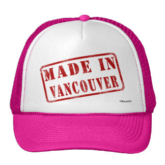 Hecho en Vancouver Gorro De Camionero