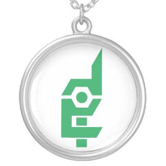 Hecho en verde/blanco extremos del collar del