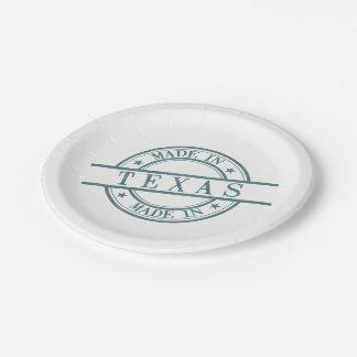 Hecho en verde del símbolo del logotipo del estilo plato de papel 17,78 cm