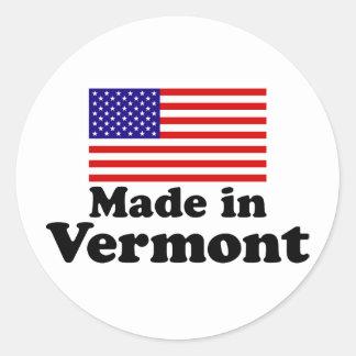 Hecho en Vermont Pegatina Redonda