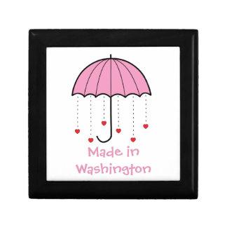 Hecho en Washington - paraguas con los corazones ( Cajas De Regalo