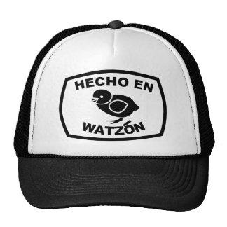 Hecho En Watzón Pollito (White) © Trucker Hat