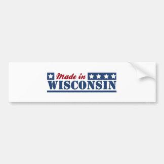 Hecho en Wisconsin Pegatina Para Auto