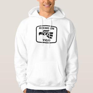 Hecho en Yigo  personalizado custom personalized Hooded Sweatshirt