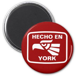 Hecho en York  personalizado custom personalized 2 Inch Round Magnet