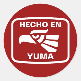 Hecho en Yuma  personalizado custom personalized Classic Round Sticker
