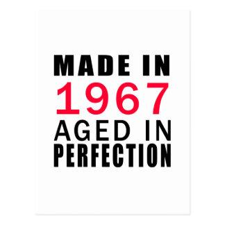 Hecho envejecido en 1967 en la perfección tarjetas postales