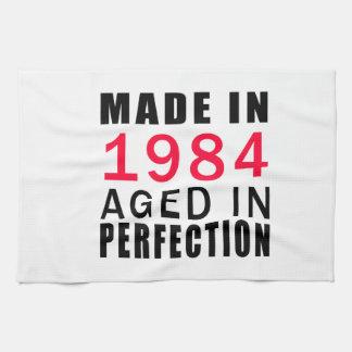 Hecho envejecido en 1984 en la perfección toallas de cocina