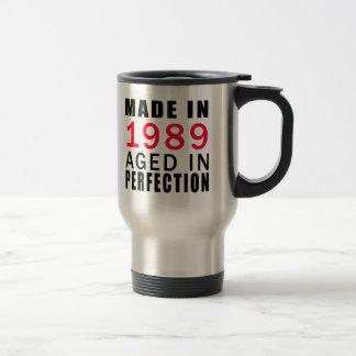 Hecho envejecido en 1989 en la perfección taza de viaje de acero inoxidable