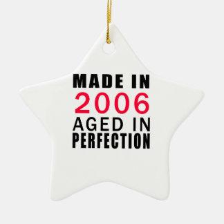 Hecho envejecido en 2006 en la perfección adorno de cerámica en forma de estrella