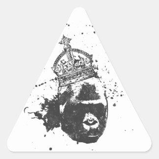 Hecho escéptico pegatina triangular