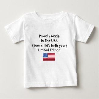 Hecho orgulloso en el personalizar de la edición playera de bebé