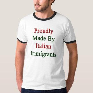 Hecho orgulloso por los inmigrantes italianos playera