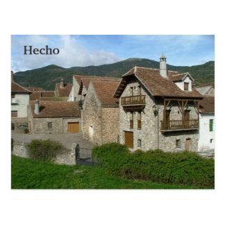 Hecho Postcard