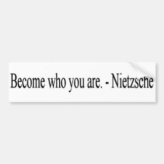Hecho quién usted es - Nietzche - pegatina para el Pegatina Para Auto