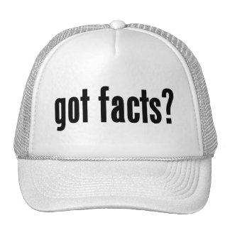 ¿hechos conseguidos? gorras