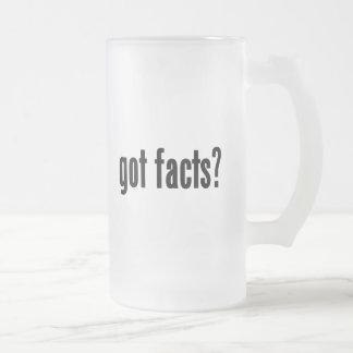 ¿hechos conseguidos? taza de cristal