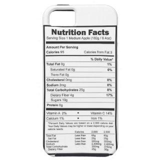 hechos de la nutrición de la manzana iPhone 5 Case-Mate fundas
