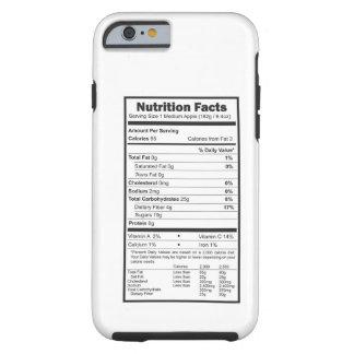 hechos de la nutrición funda de iPhone 6 tough