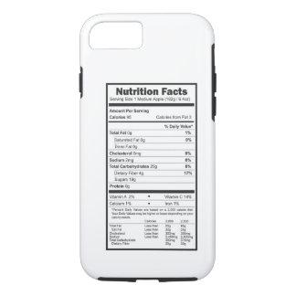 hechos de la nutrición funda iPhone 7