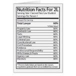 Hechos de la nutrición para A 2L Tarjeta