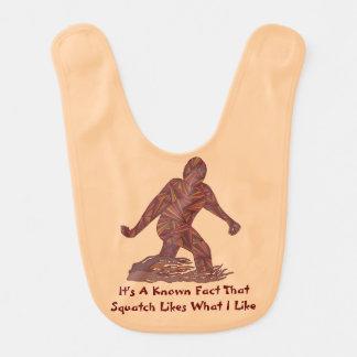 Hechos de Squatch de la diversión de Bigfoot Babero De Bebé