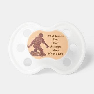 Hechos de Squatch de la diversión de Bigfoot Chupete De Bebé