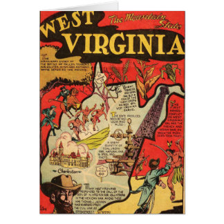 Hechos de Virginia Occidental Tarjeta De Felicitación