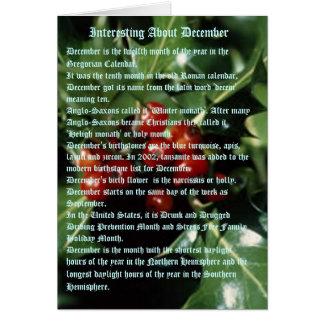Hechos interesantes sobre diciembre tarjeta de felicitación