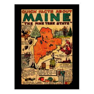 Hechos rápidos sobre Maine Tarjetas Postales