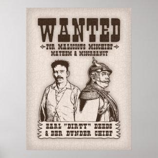 Hechos sucios y jefe de Der Dunder Posters