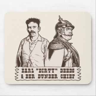 Hechos sucios y jefe de Der Dunder Alfombrilla De Raton