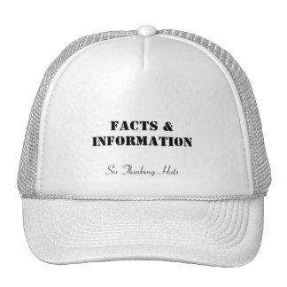 Hechos y información, seis gorras de pensamiento