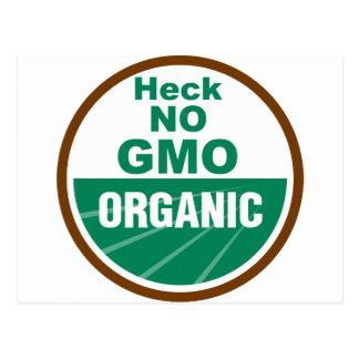 Heck No GMO Orgainc Postcard