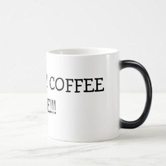 HECK YES! COFFEE TIME!!! 11 OZ MAGIC HEAT Color-Changing COFFEE MUG